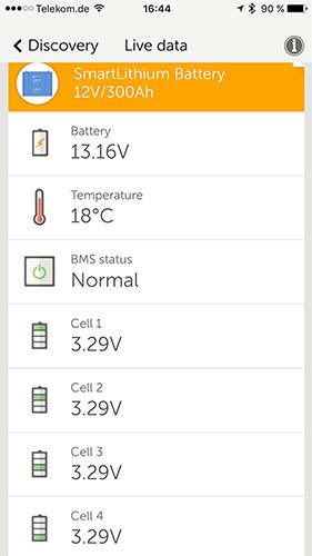 Bluetooth Victron BMS Lithium Batterie