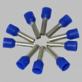 10 x wire ferrule 2,5mm², blue