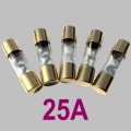 25A glass tube fuse Typ AGU, 5pcs. per Set