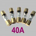 40A glass tube fuse Type AGU, 5pcs. per Set