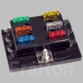 6pos. ATY-N Panel Fuse Block with cover, max. 150A