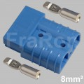50 Amp double pole housing Set incl. terminals AWG8 / 8mm²