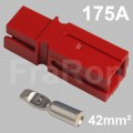 175 Amp single pole housing, red, Set incl. terminal for AWG1 / 42mm²