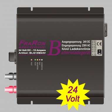 IUoU Automatic Battery Charger 24 Volt 15 Ampere