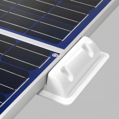 mounting profile 2pcs abs plastic for solar cells 25cm. Black Bedroom Furniture Sets. Home Design Ideas