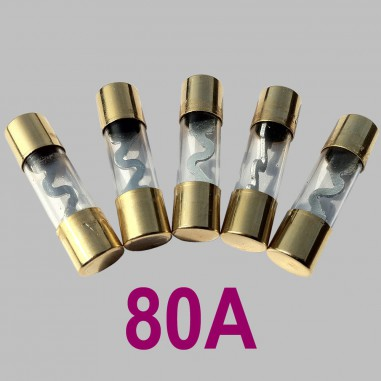 80A glass tube fuse Type AGU, 5pcs. per Set