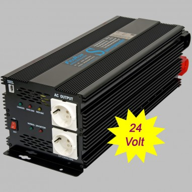 Power inverter modified sine wave 2000 Watt 24V with charger 5A and AC transfer switch