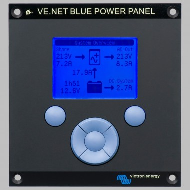 Blue Power Panel 2 for control and monitor of Victron devices (MultiPlus, Quattro, Battery controller VBC, Tank monitor VTM)