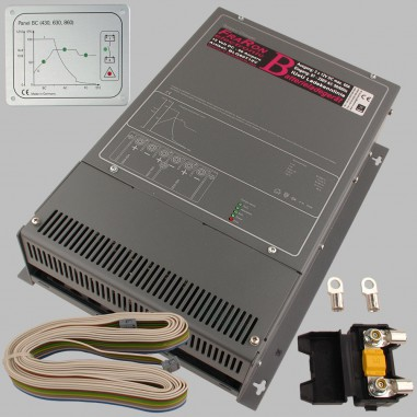 IUoU Automatic Battery Charger 12 Volt 60 Ampere three outputs, incl. remote unit