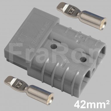 120 Amp double pole housing Set incl. terminals AWG1 / 42mm²