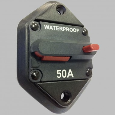50A circuit breaker with reset / panel mount