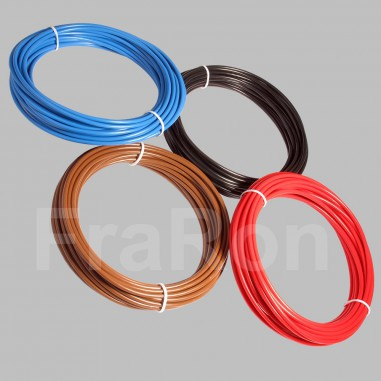 10m PVC automotive cable, FLRY-B, single wire, different colours and cross sections