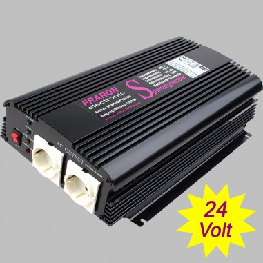 Power inverter modified sine wave 1000 Watt 24V with charger 2A and AC transfer switch