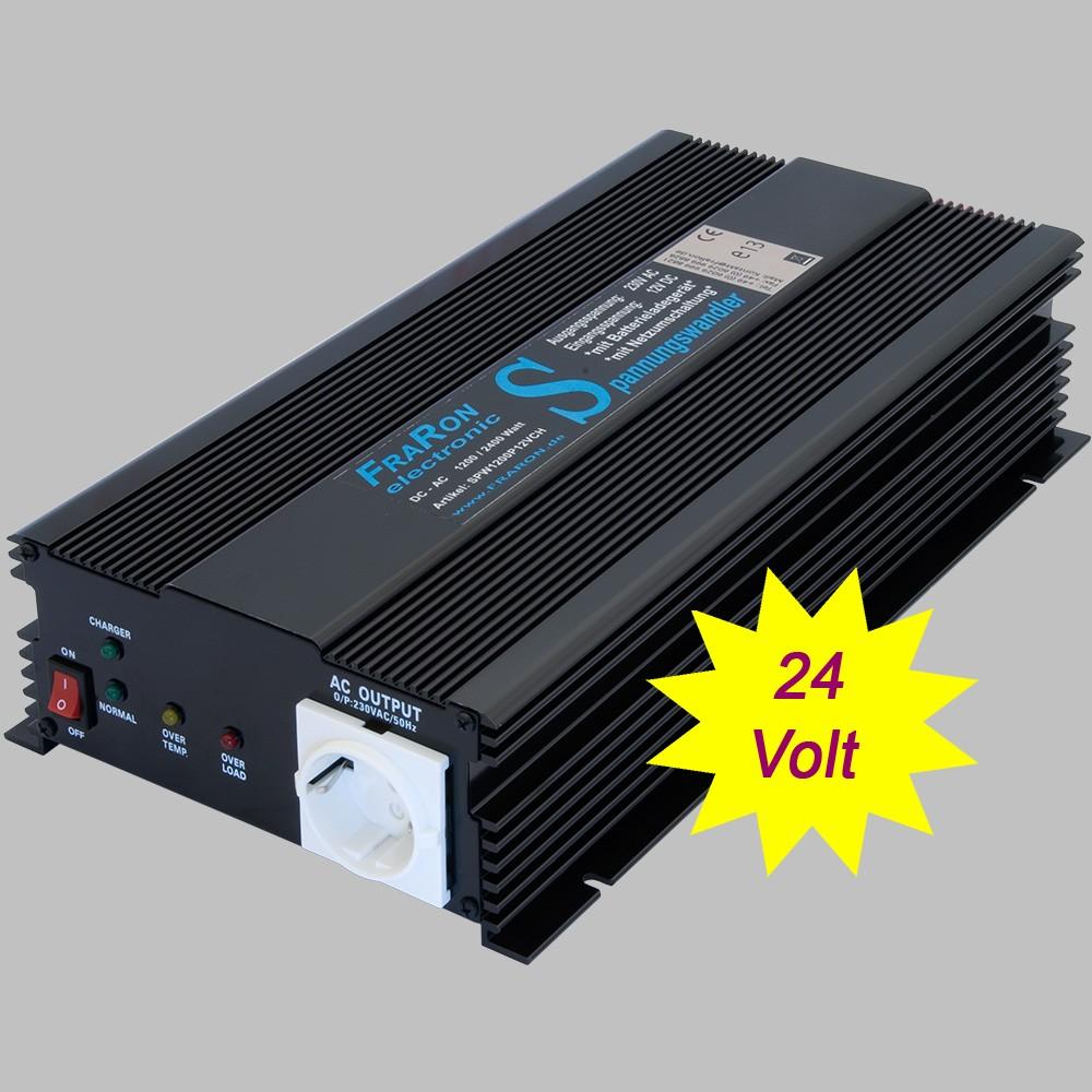 Power Inverter Modified Sine Wave 1200 Watt 24v With